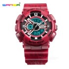 SANDA 299 30m Waterproof PU Strap Camouflage Sports Watch - Red