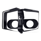 Foldable 3D VR Glasses w/ Cardboard for 4~6 inch Phones - Black