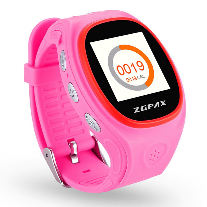 ZGPAX S866 GPS Tracking Watch Phone w/ Anti-Falling Alarm - Pink