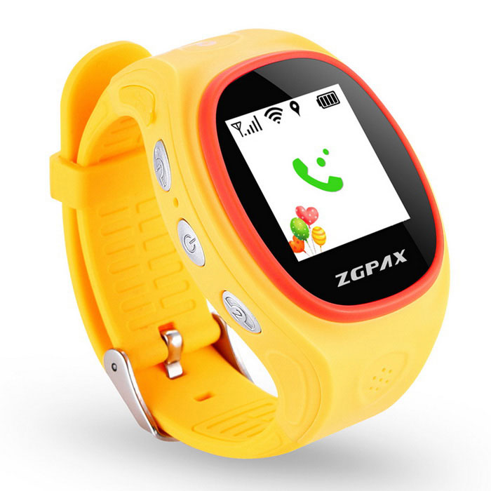 ZGPAX S866 GPS Tracking Watch Phone w/ Anti-Falling Alarm - Yellow