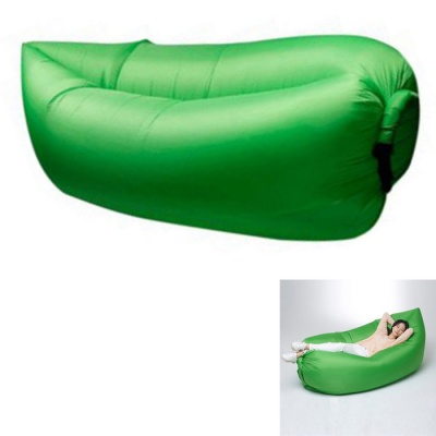 Lazy Beach Inflation-Free Bed Cushion Sleeping Bag - Green