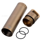 FURA Outdoor Survival Aluminum Alloy Waterproof Container - Golden