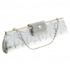 Luxurious Evening Bag Handbag for Party and Wedding (Silver)