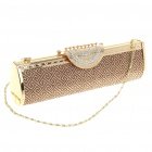 Luxurious Evening Bag Handbag for Party and Wedding (Gold + Red)