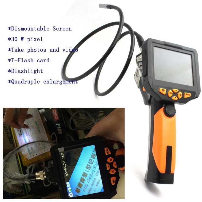 3 5 8 2mm Lcd Video 1m Inspection Camera Endoscope