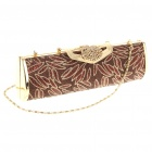 Luxurious Evening Bag Handbag for Party and Wedding (Gold + Yellow)