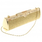 Luxurious Evening Bag Handbag for Party and Wedding (Silver + Gold)