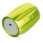 PINDO P-M6 Outdoor Mini Bluetooth Speaker with FM, Mic - Yellow+Silver