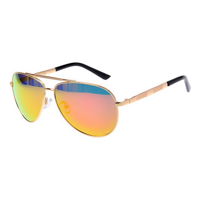 SENLAN 2849P1 Unisex Polarized Sunglasses - Gold + Red REVO