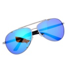SENLAN 2849P2 Unisex Polarized Sunglasses - Silver + Blue