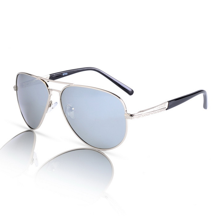 SENLAN 8703P3 Men's Polarized Sunglasses - Silver