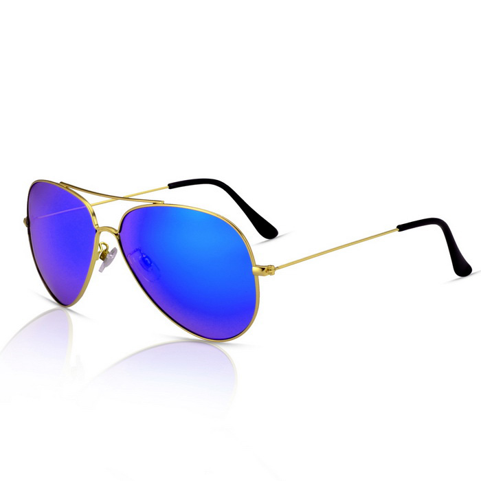 SENLAN 9326P2 Unisex Polarized Sunglasses - Gold + Blue