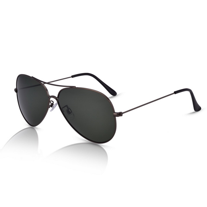 SENLAN 9326P5 Unisex Polarized Sunglasses - Gun Color