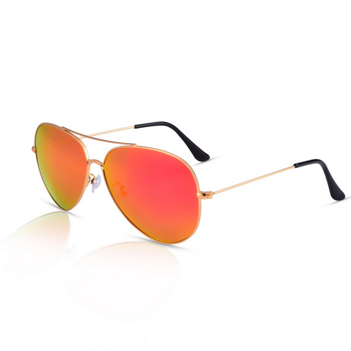 SENLAN 9326P1 Unisex Polarized Sunglasses - Gold + Red