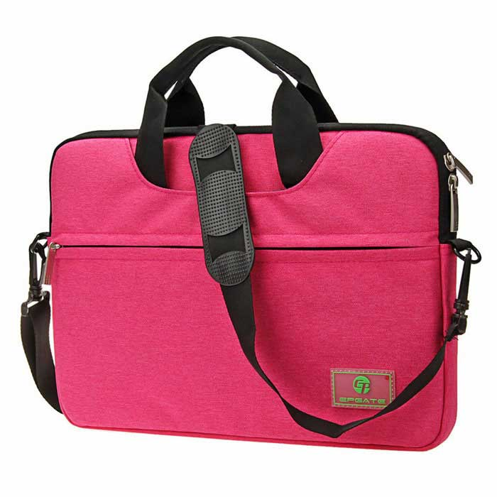 "EPGATE 15.6 ""Laptop Bag / Crossbody Messenger Bag Ombro - Deep Pink"