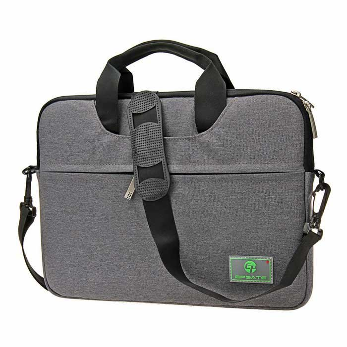 "EPGATE 13.1"" Laptop Bag/Crossbody Shoulder Messenger Bag - Gray"