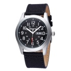 SKONE 390301 Unisex Quartz Wristwatch w/ Calendar Display - Black