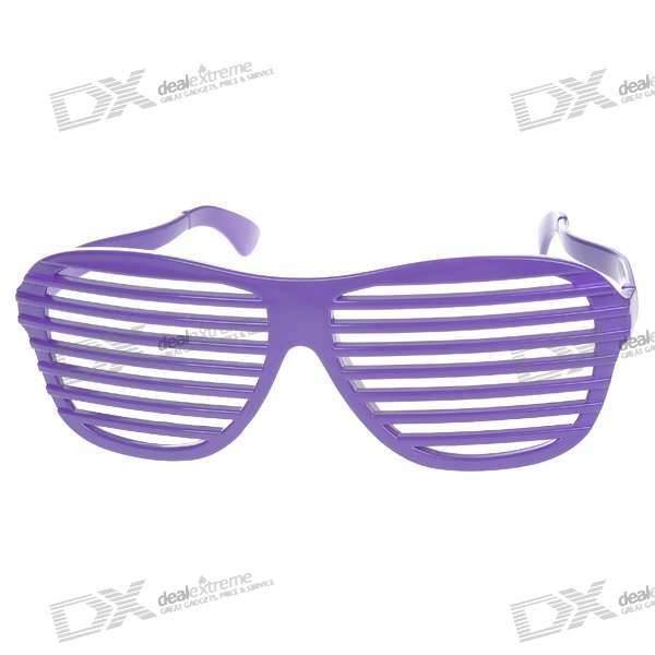 Decoration Plastic Stripe Glasses (Color Assorted)