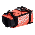 ROSWHEEL Bike Rear Rack Seat Pannier Bag - Orange + Black (5L)