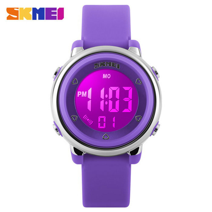 SKMEI 1100 Jentemultifunksjonell Silikon Sports Watch - Purple