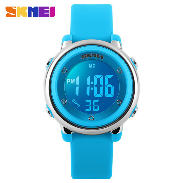SKMEI 1100 Girls Multifunctional Silicone Sports Watch - BlueSport Watches<br>Form  ColorBlueQuantity1 DX.PCM.Model.AttributeModel.UnitShade Of ColorBlueCasing MaterialPlastic &amp; MetalWristband MaterialSiliconeSuitable forChildrenGenderWomenStyleWrist WatchTypeSports watchesDisplayDigitalBacklightYESMovementDigitalDisplay Format12/24 hour time formatWater ResistantWater Resistant 5 ATM or 50 m. Suitable for swimming, white water rafting, non-snorkeling water related work, and fishing.Dial Diameter3.3 DX.PCM.Model.AttributeModel.UnitDial Thickness1.3 DX.PCM.Model.AttributeModel.UnitWristband Length22 DX.PCM.Model.AttributeModel.UnitBand Width2.2 DX.PCM.Model.AttributeModel.UnitBattery1 * CR2025 (included)Packing List1 * Watch<br>