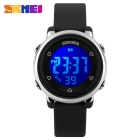 SKMEI 1100 Girl's Multifunctional Silicone Sports Watch - Black