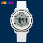 SKMEI 1100 Girl's Multifunctional Silicone Sports Watch - White