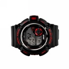 50m SKMEI 0939 dos homens Waterproof Sports Watch - Black + Red