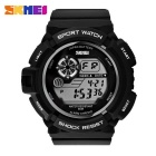 5 Colors LED Germany Imported PU Resin Strap Multi-Function Digital Wristwatch w/ Alarm (1 * CR2025)