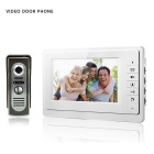 "7 ""TFT a cores vídeo porteiro Intercom Doorbell Sistema Kit IR Camera Monitor Speakerphone Intercom"
