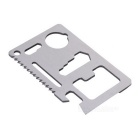 11-in-1 Stainless Steel Card Style Knife Tool - Silver (5PCS)