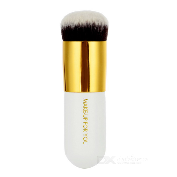 MAKE- UP FOR YOU 103 Powder Foundation Brush - White + Gold