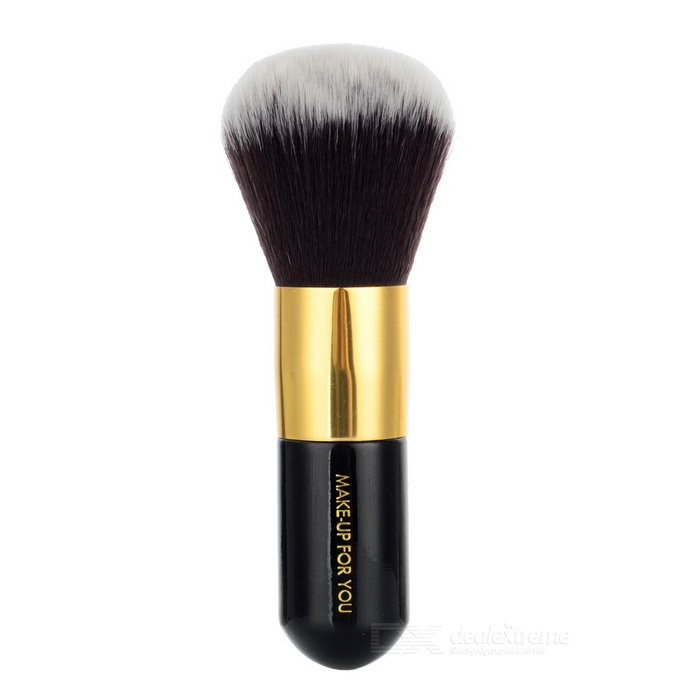 MAKE- UP FOR YOU 105 Powder Brush - Black + Gold