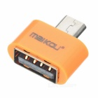 MaiKou Mini USB Male to Female USB OTG Adapter - Orange