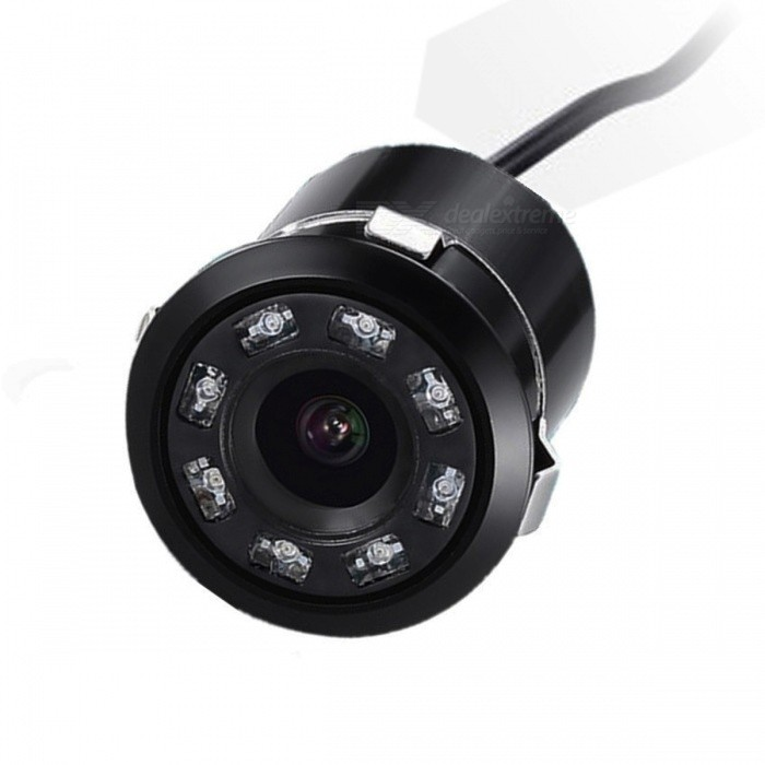 18.5mm Mini Waterproof Wired Car Reversing Camera - Black