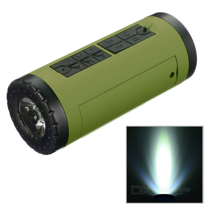 PINDO PD P-X6 Bicicleta Bluetooth Speaker & Power Banco - Verde Exército