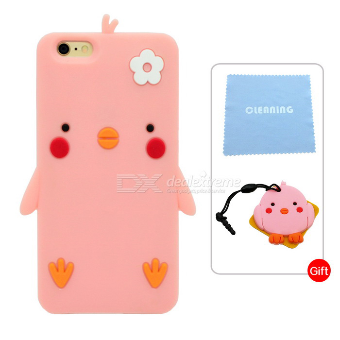 Cartoon Protective Case for IPHONE 6 PLUS / 6S PLUS - Tender Pink