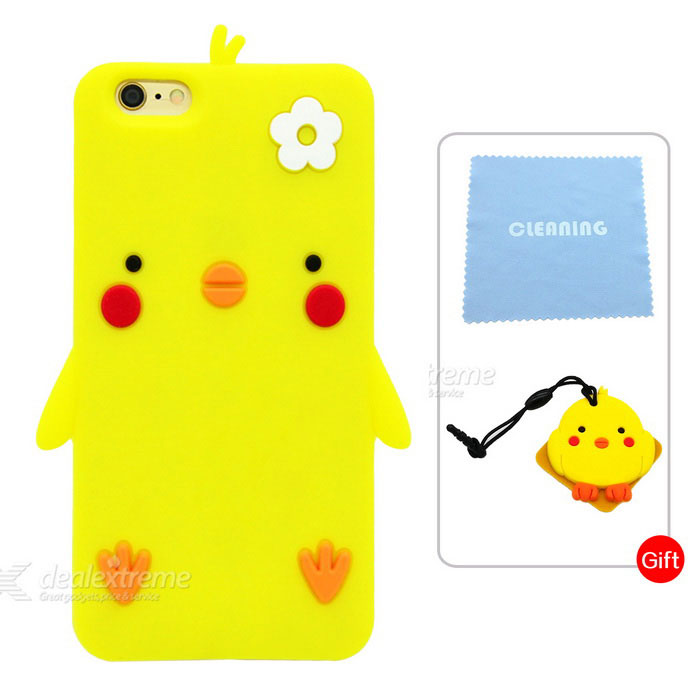 Cartoon Pattern Protective Case for IPHONE 6 / 6S - Yellow