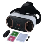 Virtual Reality 3D Glasses + Bluetooth Controller - Svart + Rose Gold