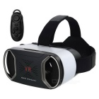 Realidade Virtual 3D Glasses + Bluetooth Controller - Black + White