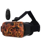 VR 3D Video Headset Brille + Bluetooth-Controller - Schwarz + Orange