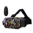 VR 3D Video Headset Glasses + Bluetooth Controller - Black + White