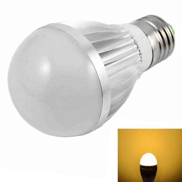 KINFIRE E27 5W 10-5730 SMD LED Bulb Warm White Light (12V)E27<br>Color BINWarm WhiteMaterialAluminium alloyForm  ColorSilver + MulticoloredQuantity1 DX.PCM.Model.AttributeModel.UnitPower5WRated VoltageOthers,12 DX.PCM.Model.AttributeModel.UnitConnector TypeE27Chip BrandOthers,-Chip TypeLEDEmitter TypeOthers,5730 SMD LEDTotal Emitters10Actual Lumens400 DX.PCM.Model.AttributeModel.UnitColor Temperature3000KDimmableNoBeam Angle180 DX.PCM.Model.AttributeModel.UnitPacking List1 * LED Bulb<br>