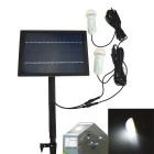IN-Color 1W 330lm 2-Ampoule LED solaires super Bright Lights / Jardin intérieur