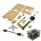 Lithium Battery Board + Acrylic Box + Fan + Heat sink + USB Cable Kits
