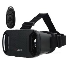 VR 3D BOX Virtual Reality 3D Glasses + Bluetooth Controller - Black
