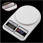 Mini Electronic Kitchen Scale w/ Strain-gauge Sensor - White(5000g/1g)