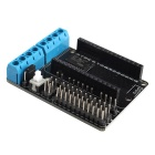Motor Drive Expansion Board for Arduino Internet Smart Car - Blue + Black