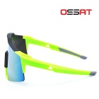 OSSAT Hiking Sports Glasses - Fluorescent Yellow + Yellow REVO