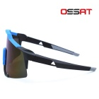 OSSAT 100% UV Protection Hiking Sports Glasses - Black + Blue REVO